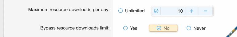 [JUM] Resource Download Limit