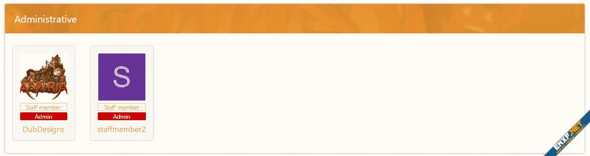 Staff display (Automatic staff page)