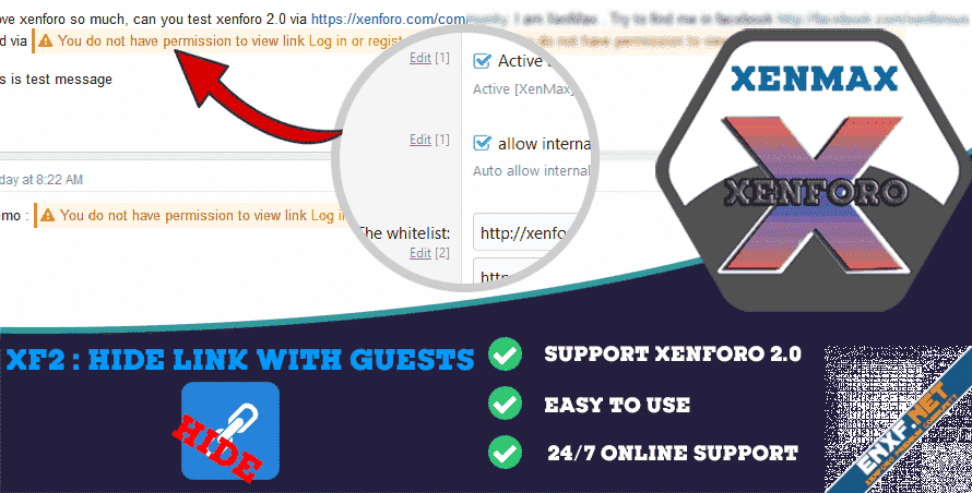 [XenMax] - Hide Link With Guests