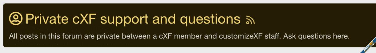 [cXF] Customize forum block in Forum view