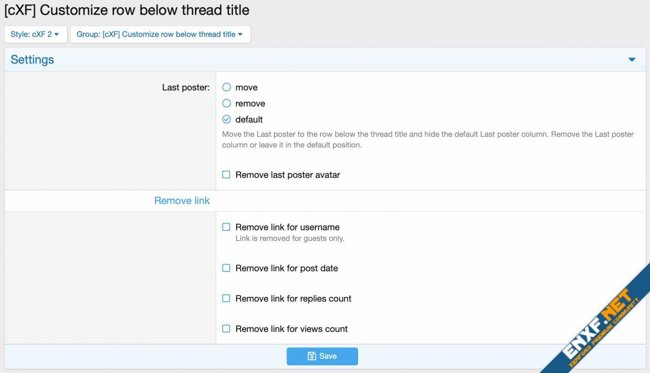 [cXF] Customize row below thread title