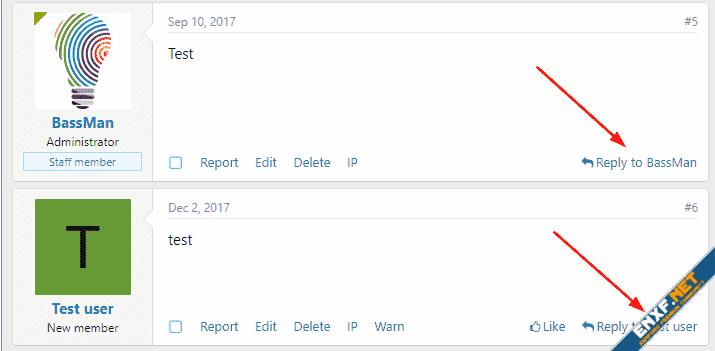 [cXF] Reply to User