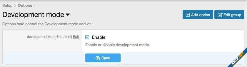 AndyB Development mode