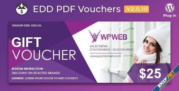 Easy Digital Downloads PDF Vouchers