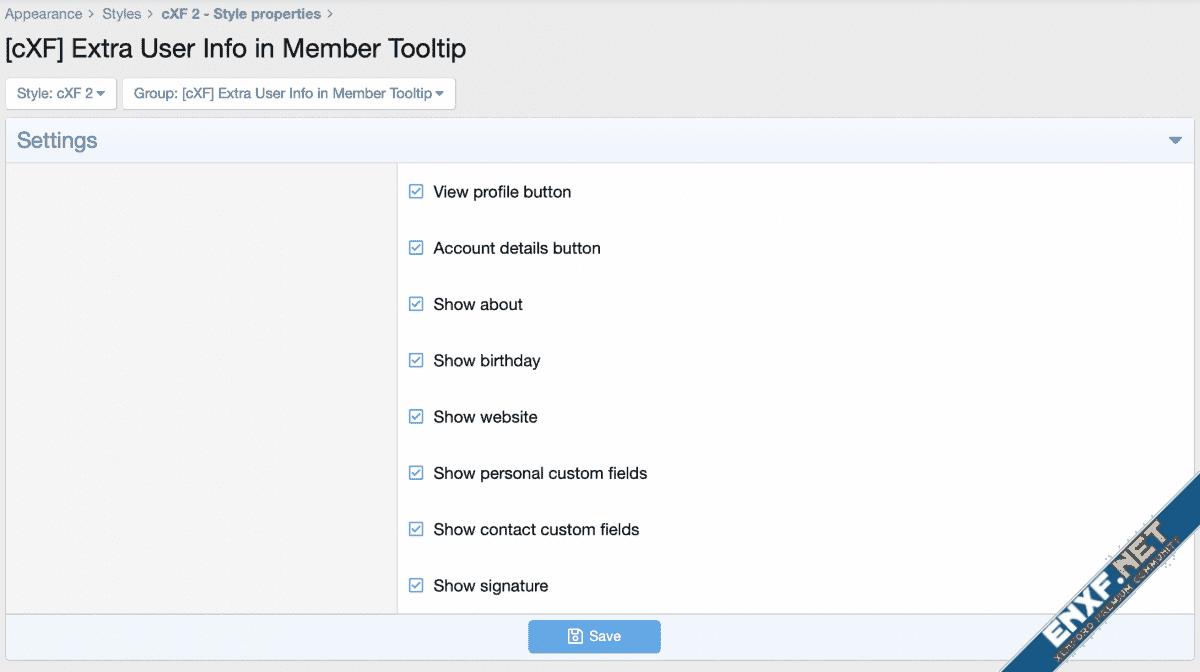 [cXF] Extra User Info in Member Tooltip