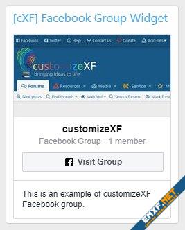[cXF] Facebook Group Widget
