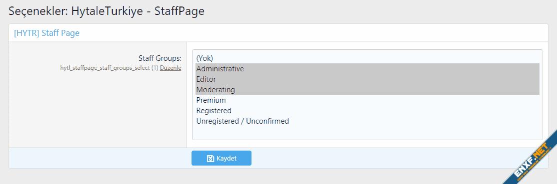 [HYTR] Staff Page