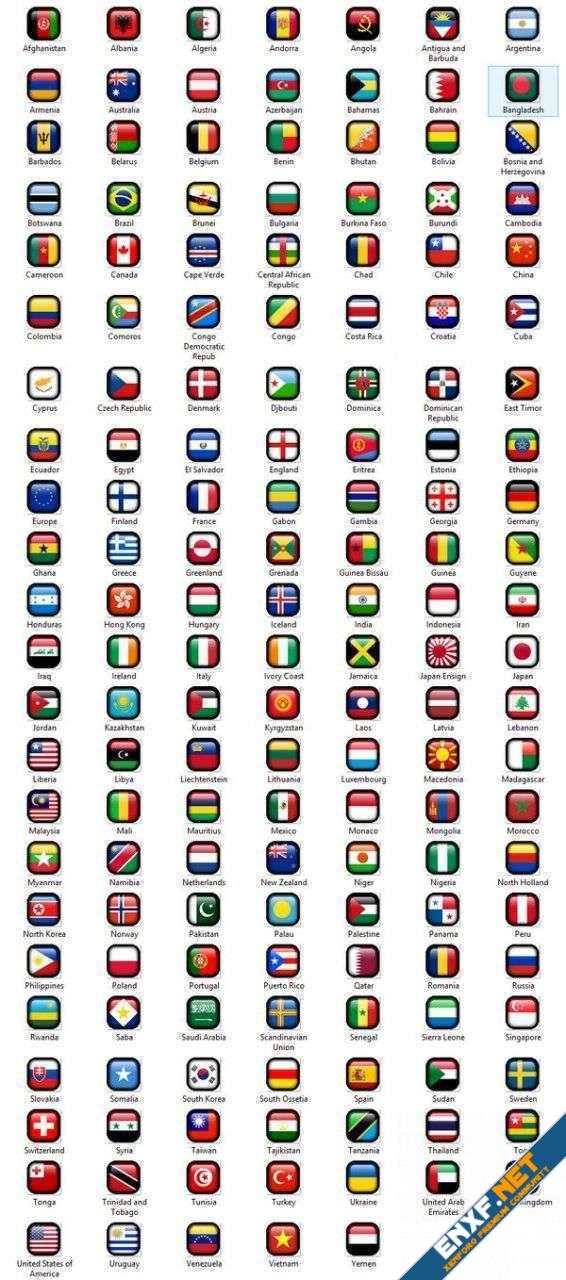 [ITD] Boarder Box World Flags Smiles
