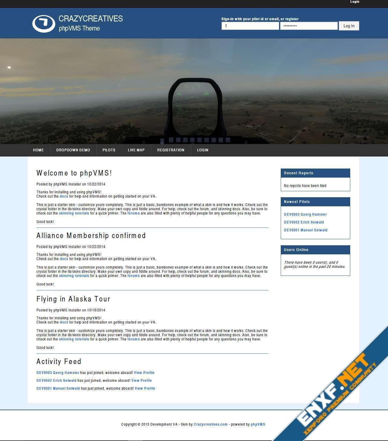 phpVMS Theme – Jetset Basic