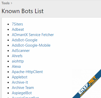 Known Bots