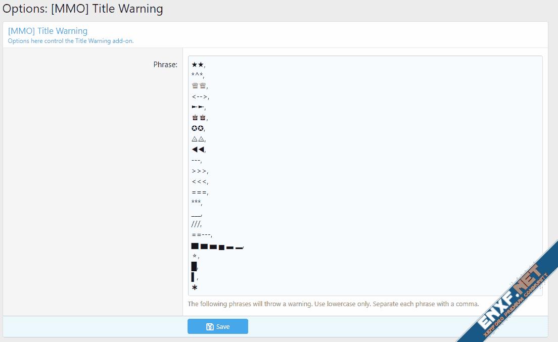 [MMO] Title Warning