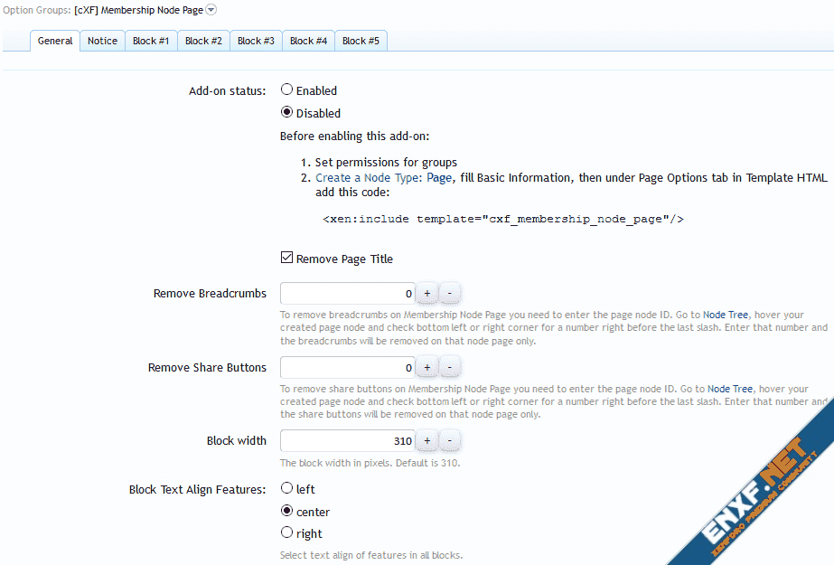 [cXF] Membership Node Page