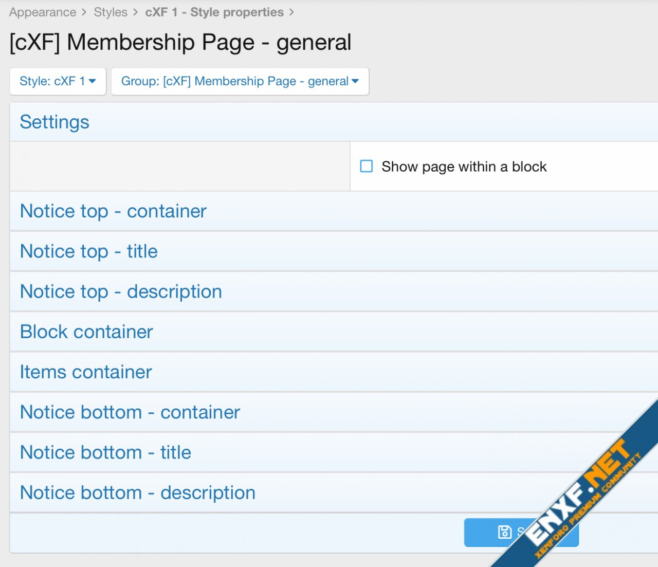 [cXF] Membership Page