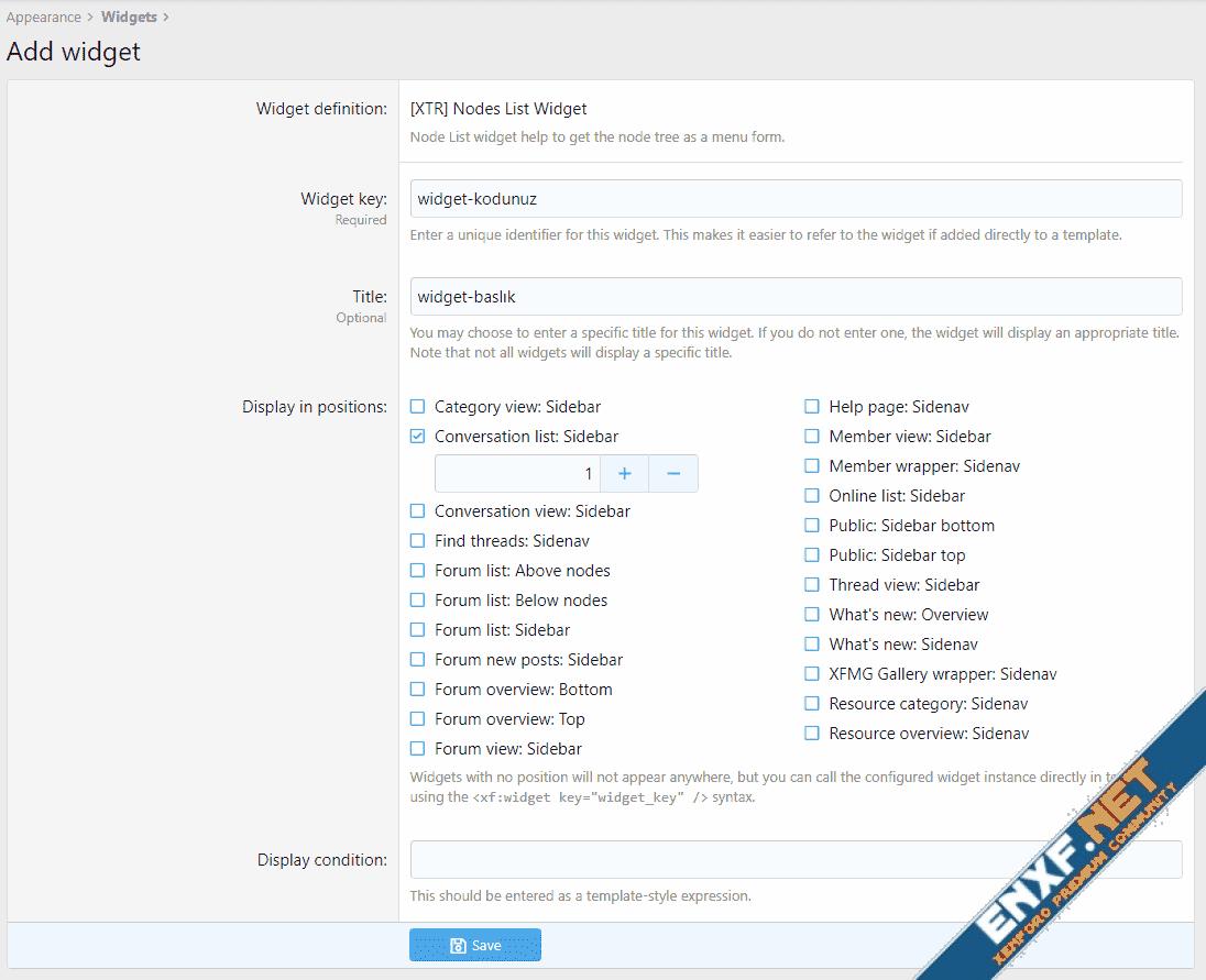 [XTR] Node List Widget - Forum List