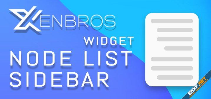 [Xenbros] Node list sidebar widget