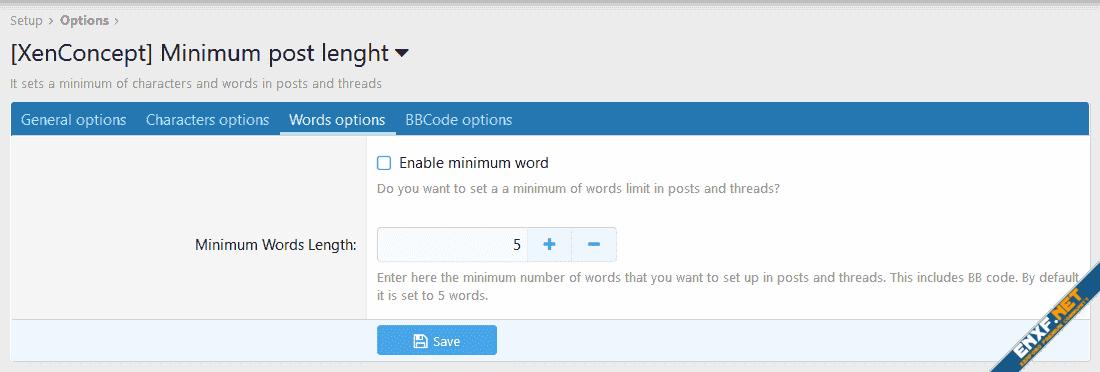 [XenConcept] Minimum post length
