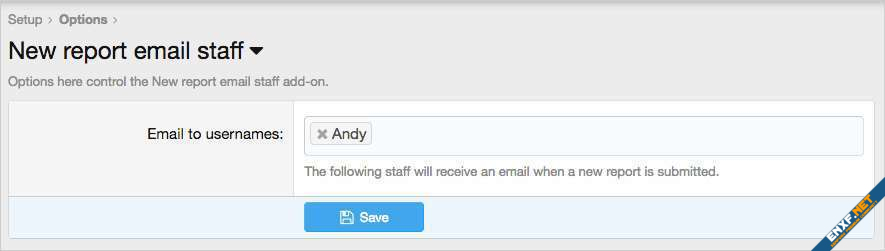 AndyB New report email staff