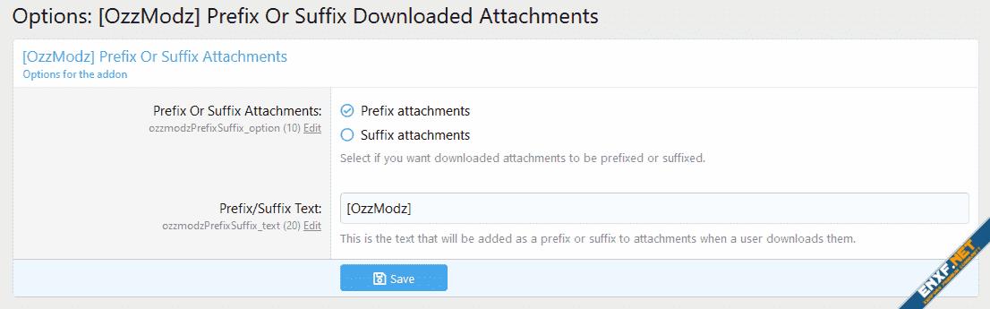[OzzModz] Prefix Or Suffix Downloaded Attachments
