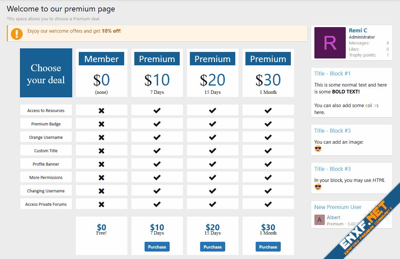 [XenConcept] Premium Page