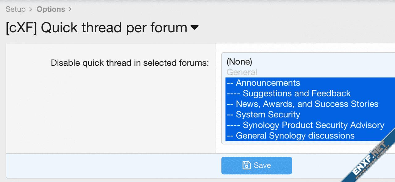 [cXF] Quick thread per forum