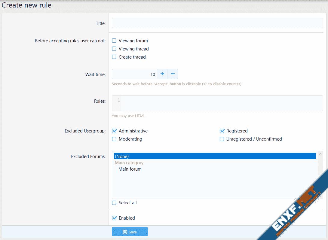 [XenConcept] Advanced Forum Rules