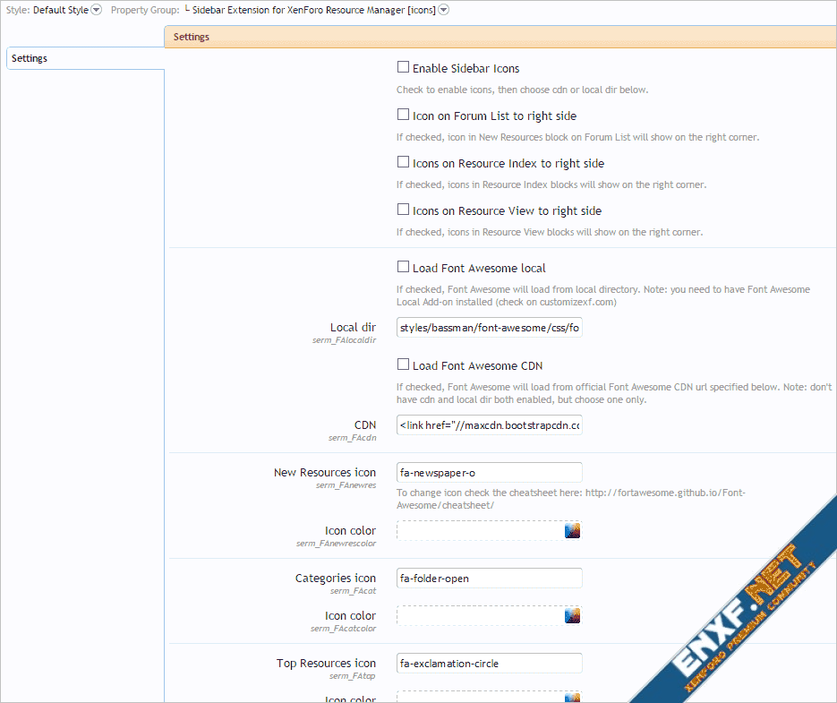 [cXF] Sidebar Extension for XenForo Resource Manager