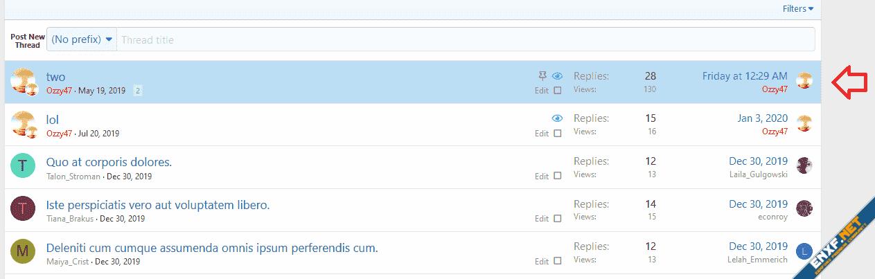 [OzzModz] Highlight Sticky Threads