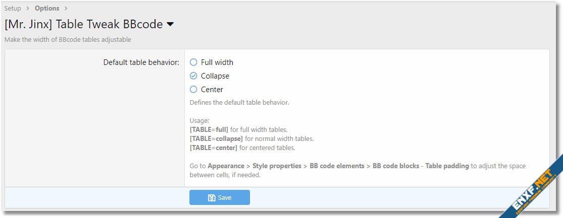 Table BBcode Tweak