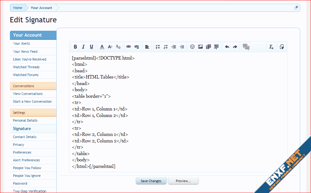 [TH] HTML BB Code