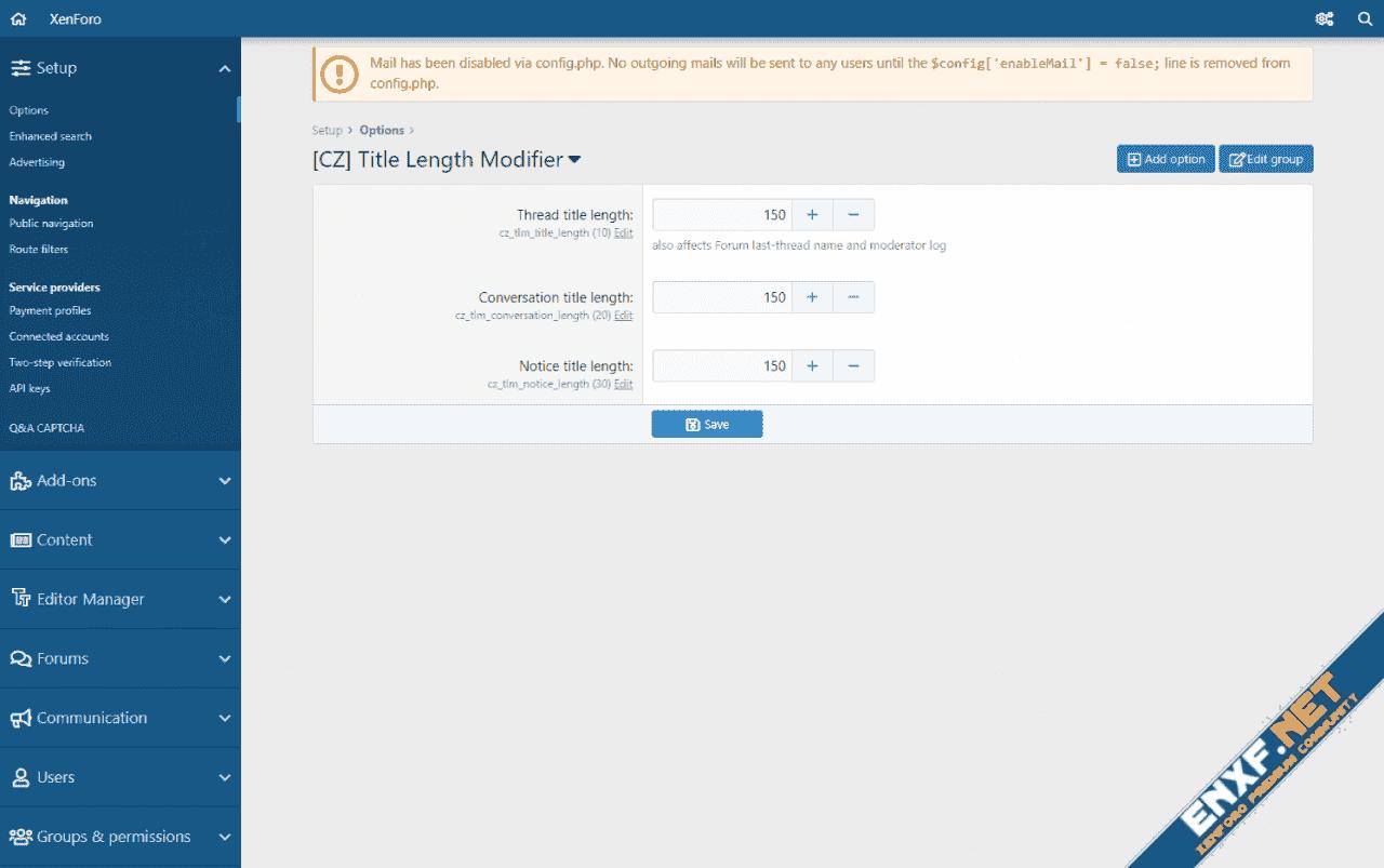 [CZ] Title Length Modifier