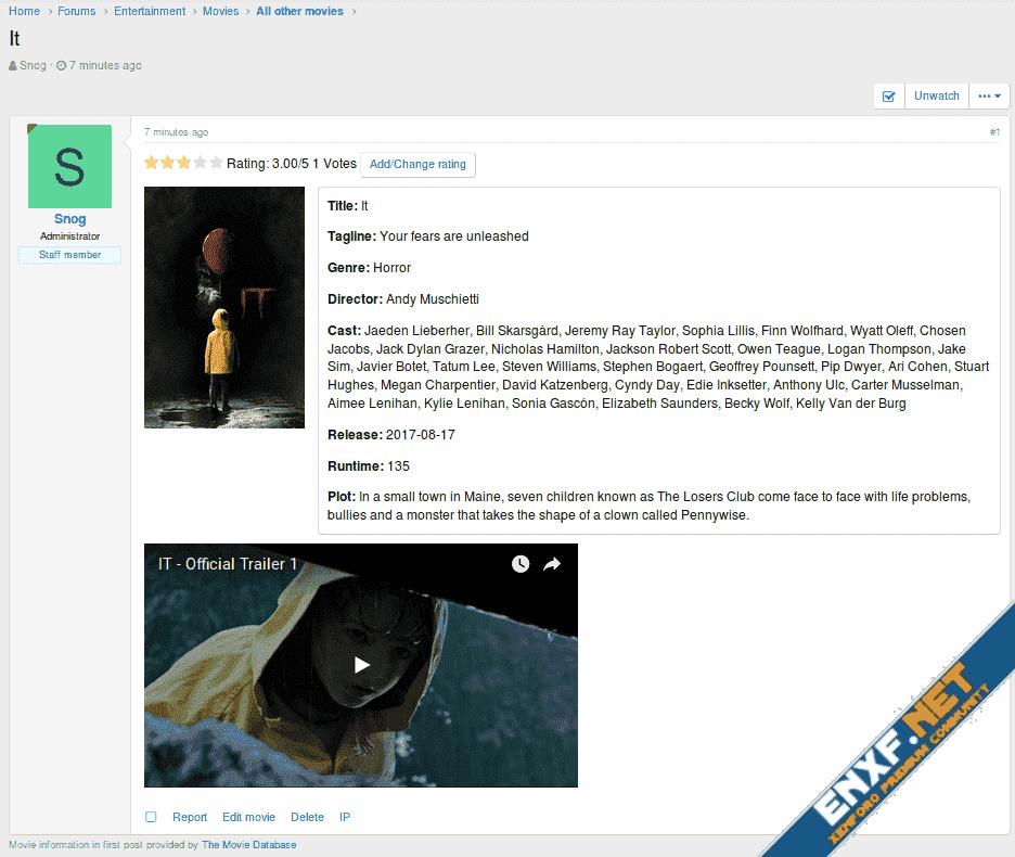 TMDb Movie Thread Starter for XenForo 2.x