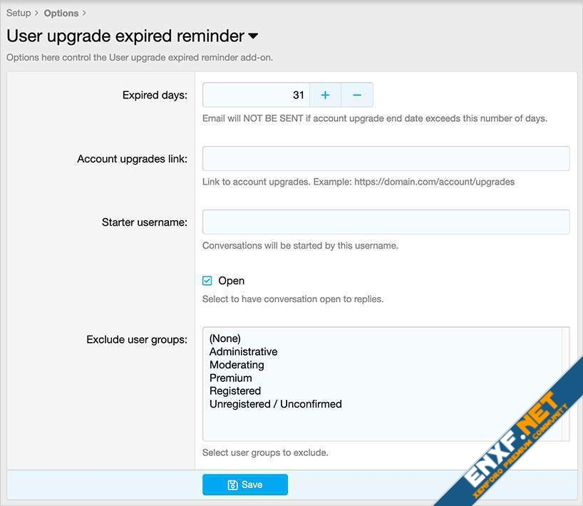 AndyB User upgrade expired reminder