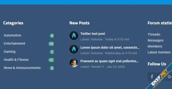 [Nulumia] Advanced Footer Widget Positions