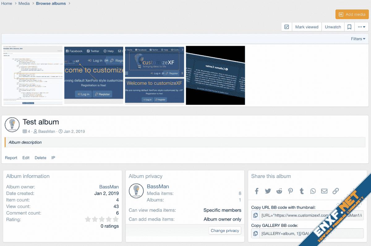 XFMG: Remove comments on album view