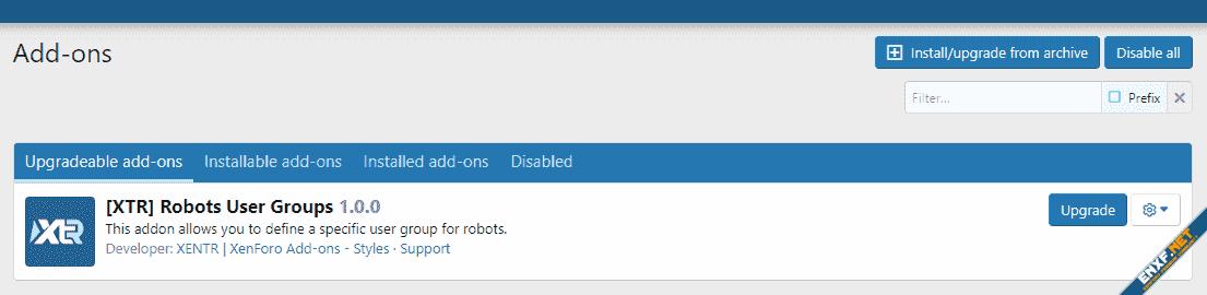 [XTR] AddOn Tab Groups