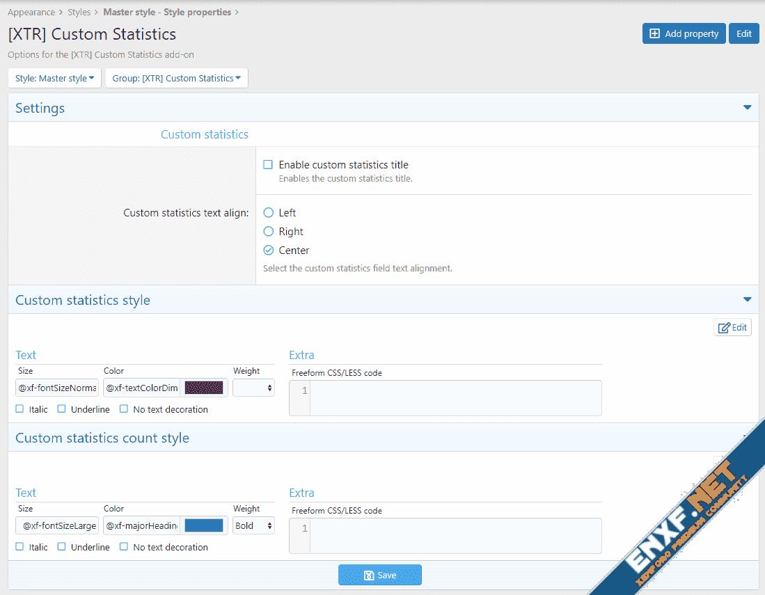 [XTR] Custom Statistics