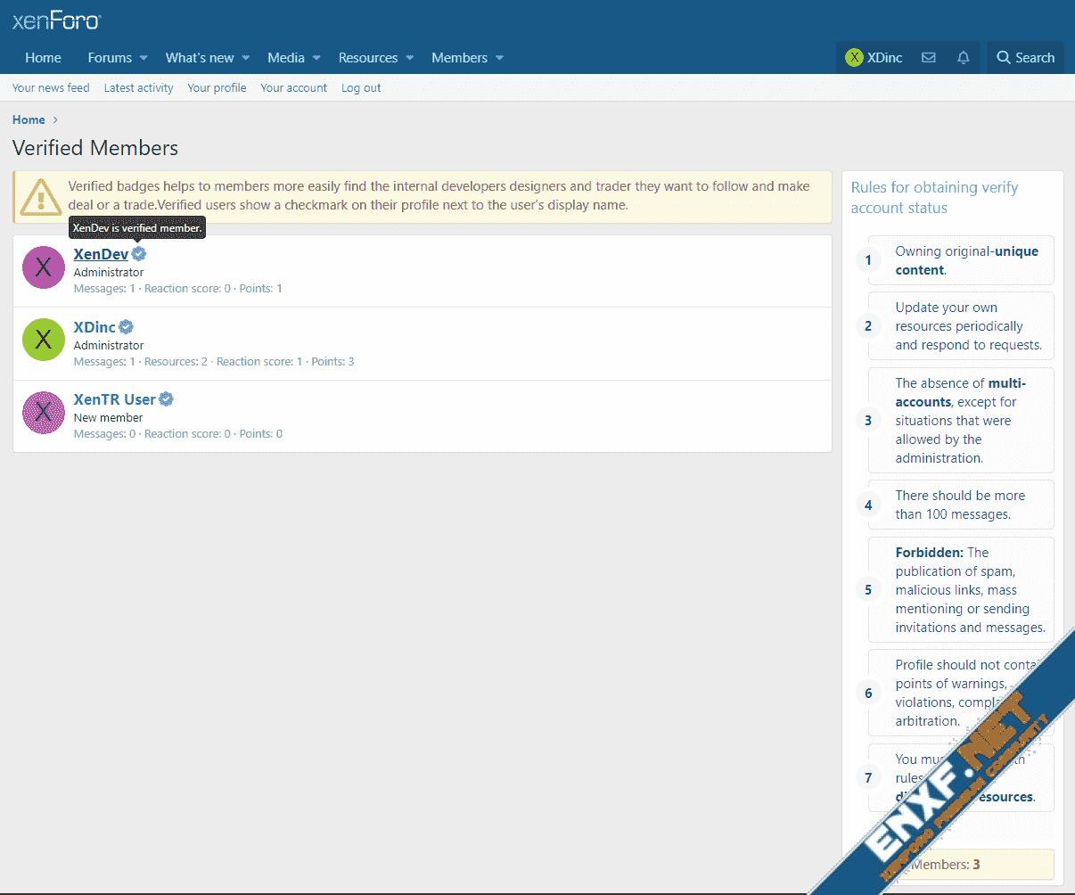 [XTR] Verified Users