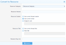 Convert Threads to Resources