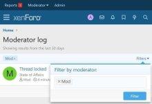Moderator Log
